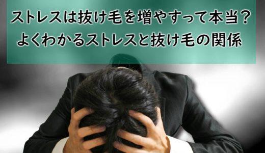ストレスは抜け毛を増やすって本当?よくわかるストレスと抜け毛の関係